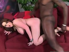 BBW slobbers over black monster cock