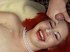 21114-Pierced Redhead Bukkake