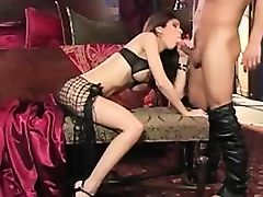 StrapOn Mistress fucks her slave