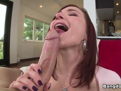 Sophia Locke in Thick Redhead creams on the cock! Video