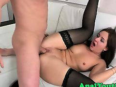 Gorgeous eurobabe assfucked in lingerie