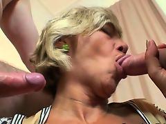 Two robbers fuck cute mature woman