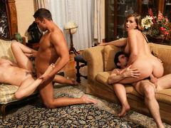 Brooke Lee Adams & Lexi Belle & James Deen & Rocco Reed in Naughty Rich Girls