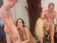 Horny pornstars Stephanie Wylde, Melody Posh and Tatiana Kushnev in incredible brazilian, lingerie xxx video