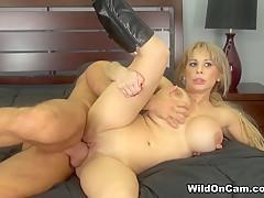 Exotic pornstar Alyssa Lynn in Crazy Blonde, Big Tits adult video