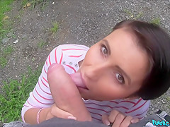 Horny pornstars in Amazing Outdoor, POV adult video