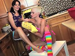 Foot Fetish PornStars Joslyn James and Zoey