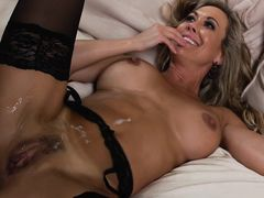 Brandi Love taking shower after sex