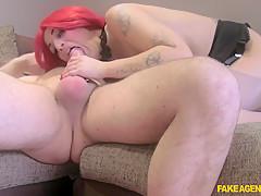 Horny pornstar in Fabulous Redhead, Casting adult clip