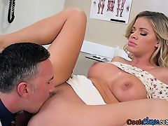 Blonde Patient Jessa Rhodes Gets Her Holes Poked By Doctor