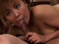 Naughty Asian Japanese school with her professor on the sofa