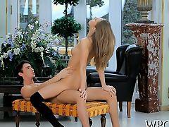 Erotic knob riding