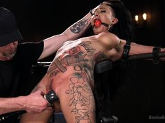 Tattooed Pain Slut Begs to Suffer in Diabolical Devices