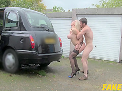 Rebecca More In Marine Gives Driver a Good Fuck