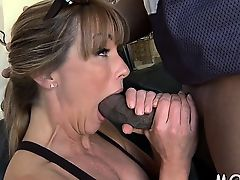 Milf loves when a large darksome one-eyed monster drills her