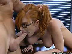 Hot Redhead Lauren Phillips Gets Humped By Hung Boss