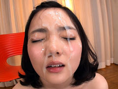 Shy girl Takes Two Huge Loads