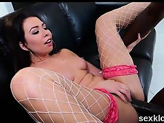 Pornstar sex kitten gets her anal drilled with enormous dick