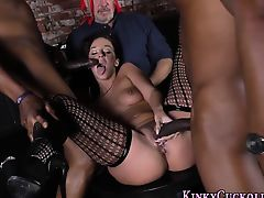 Kinky wife gets bbc cum