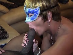 Big cock for this mature babe