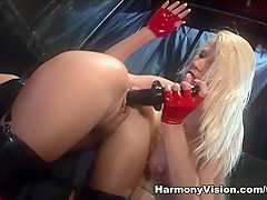Amazing pornstars Michelle Thorne, Lolly Badcock, Jasmine Webb in Horny Black and Ebony, Latex sex video