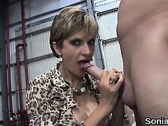 Unfaithful english mature lady sonia displays her monster ti