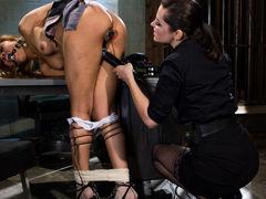 Exotic bdsm, lesbian porn scene with fabulous pornstars Bobbi Starr and Yasmine de Leon from Wiredpussy
