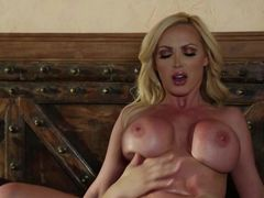 Hot bodied MILF blonde Nikki Benz with big fake tits