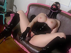 Exotic pornstar Latex Lucy in horny masturbation, big tits sex movie