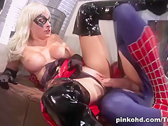 Exotic pornstar in Incredible Blonde, Latex xxx scene