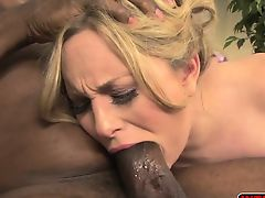 Aiden Starr loving a black hard cock