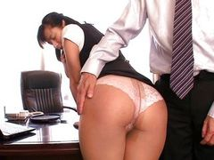 asian babe banged in the office