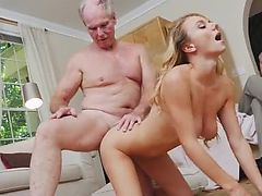 Nasty old milf and old man pregnant Molly