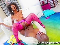 Amazing pornstars Misty Stone, Lexington Steele in Horny Black and Ebony, Stockings sex video