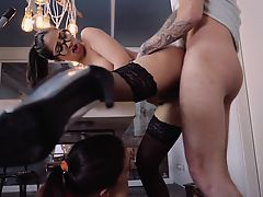 XXX SHADES - Stunning Spanish babe gets fucked on the table