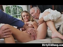 Blonde Teen Molly Mae Pussy Fingered By Two Old Dudes