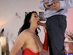 Stockinged british milf assfucked