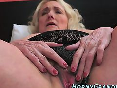 Busty grandmother sucking