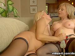 Incredible pornstars Payton Leigh, Nina Hartley in Crazy Big Tits, Blonde sex video