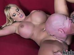 Monster tits bounce on a big dick