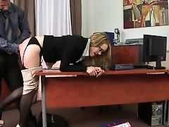 Bad secretary punished with spanks and butt sex