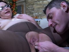 MaturesAndPantyhose Video: Lillian M and Claudius