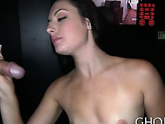Horny playgirl is showing her appreciation with wild blowjob